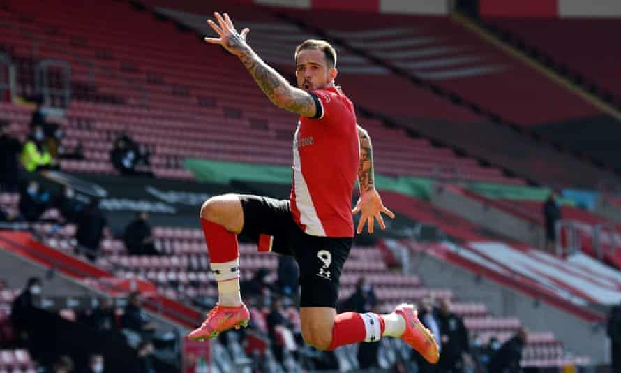 Danny Ings celebrates after scoring for Southampton against Burnley last season.