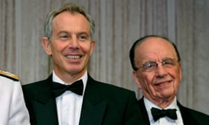 Tony Blair (L) and Rupert Murdoch at an awards ceremony in the US in 2008