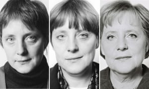 Angela Merkel in 1991, 1995 and 2008, photographed by Herlinde Koelbl