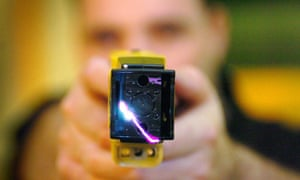 Officer with stun gun