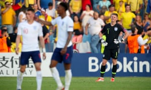 Goalkeeper Dean Henderson blundered for Romania's third goal