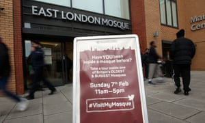 Outside East London Mosque – board advertising Visit My Mosque day