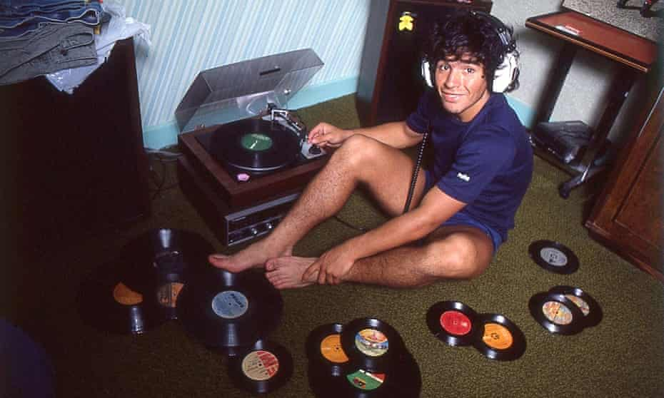 Footage from the film showing the young Maradona at home in Argentina, 1980.