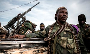 Soldiers of the Armed Forces of the Democratic Republic of the Congo (FARDC) in Djugu, eastern DRC.