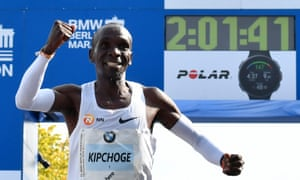 World record holder Eliud Kipchoge is Mo Farah's main competition in London