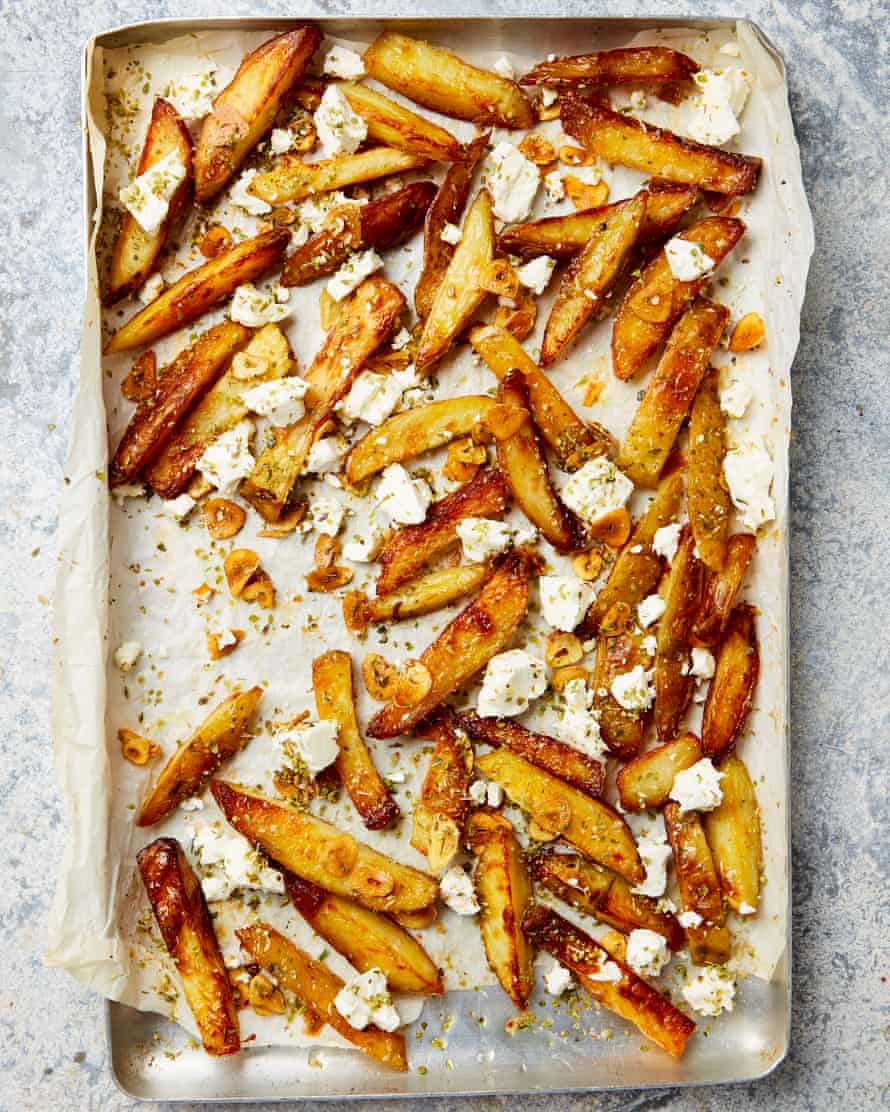 Yotam Ottolenghi's oven chips with Greek oregano and feta: