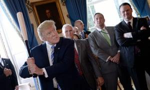 Donald Trump with baseball bat