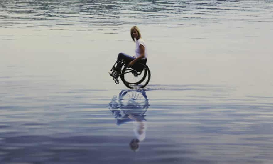 Paralympian Edith Wolf-Hunkeler in Maurizio Cattelan's work.