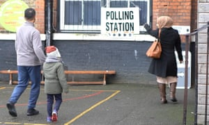 Voters visit a London polling station during the 2019 general election.