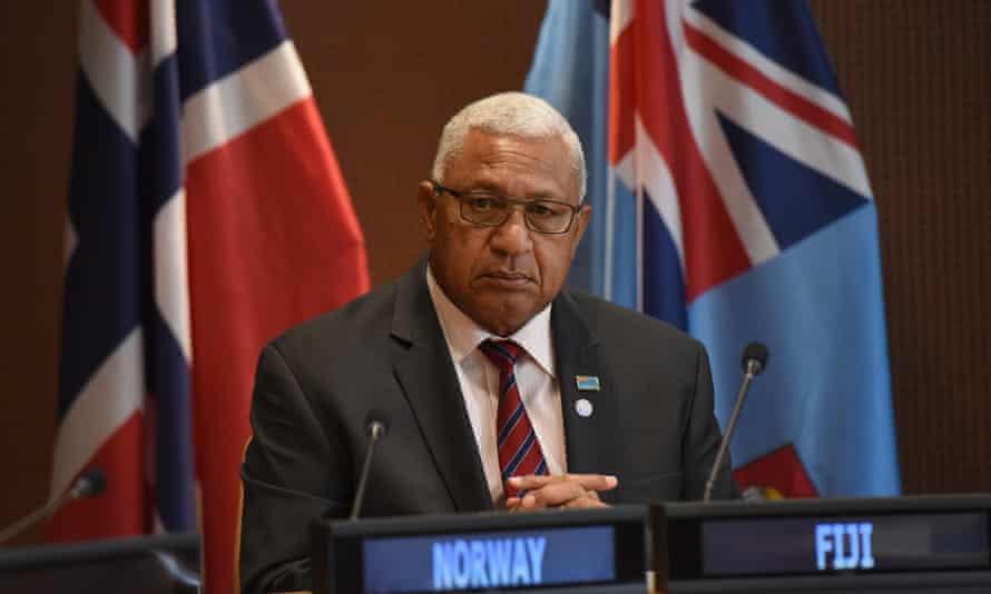 The Fiji prime minister, Frank Bainimarama