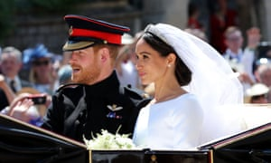 The Duchess of Sussex and Prince Harry leave St George's Chapel at Windsor Castle after their wedding.