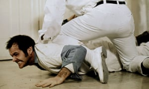 Rebellious antics … Jack Nicholson as McMurphy in the 1975 film of One Flew Over the Cuckoo's Nest.