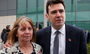 Andy Burnham with Margaret Aspinall, who is due to address MPs about the 27-year struggle of Hillsborough families to get justice.