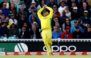Aaron Finch catches out Isuru Udana.