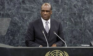 Ambassador John Ashe, of Antigua and Barbuda, is accused of accepting over $1m in bribes from a Chinese billionaire while serving as president of the United Nations general assembly.