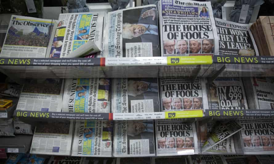 national newspapers on the news stands