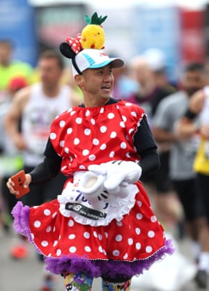 Another runner dressed as Minnie Mouse