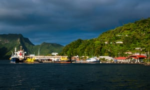 Pago Pago harbour, in American Samoa, where citizens will hold a presidential preference vote for 10 delegates.