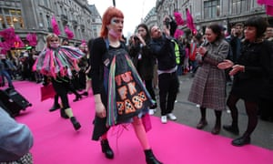 Extinction Rebellion's Fashion: Circus of Excess event in London aimed to highlight the wasteful and disposable nature of the fashion industry.