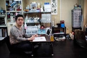Tattoo artist Kazuyoshi Nakano at his studio in Yokohama