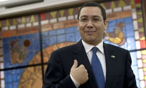 The Romanian prime minister, Victor Ponta, at the government headquarters in Bucharest on 9 June.