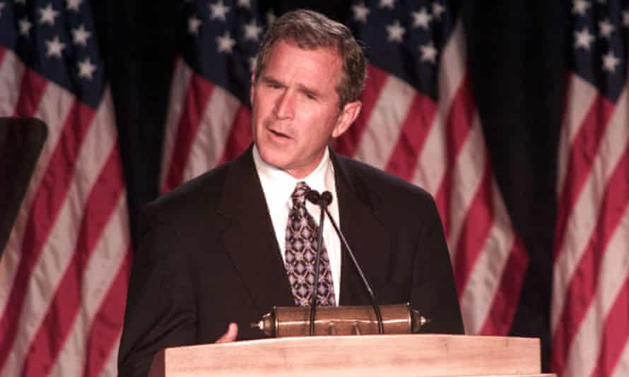 George W Bush in 1999.