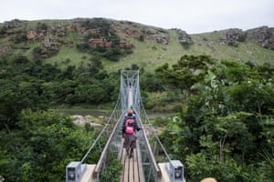 A footbridge over the River Mzamba links Pondoland with the town of Port Edward.
