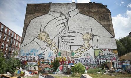 A giant mural in the Kreuzberg district of Berlin