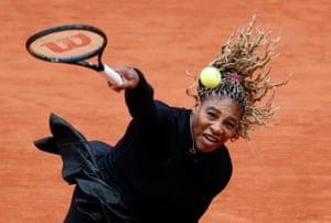 Serena Williams of the U.S. in action.