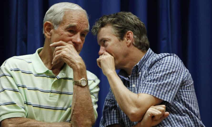 Rand Paul with his father Ron at a campaign event in 2011.