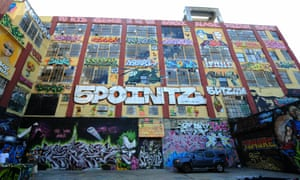 The 5 Pointz was an outdoor art exhibit space in New York was torn down in 2014 and replaced with a condominium complex