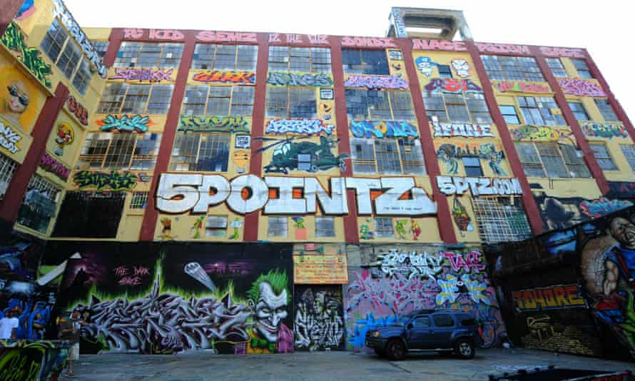 The 5Pointz factory in Queens, New York, before it was painted over.