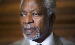 Former UN secretary general Kofi Annan, photographed in 2014.