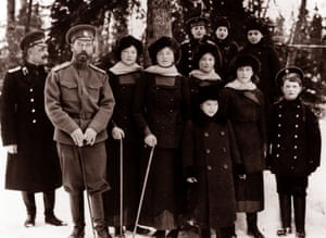 The Romanovs, Russia's lat royal family, photographed here in 1916-7