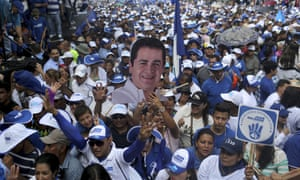 Supporters of President Hernández rally in Tegucigalpa, Honduras.