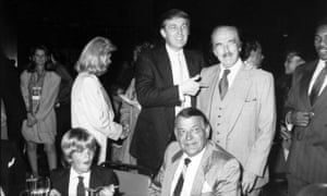 Donald Trump with father Fred, first wife Ivana and son Donald Jr