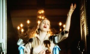 Madonna as Eva Peron in Evita.
