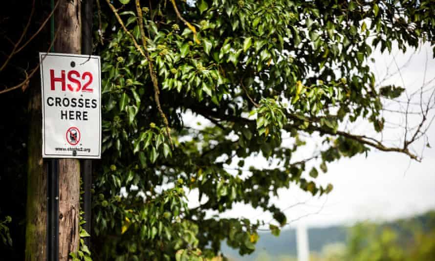 Anti-HS2 signage around Buckinghamshire.