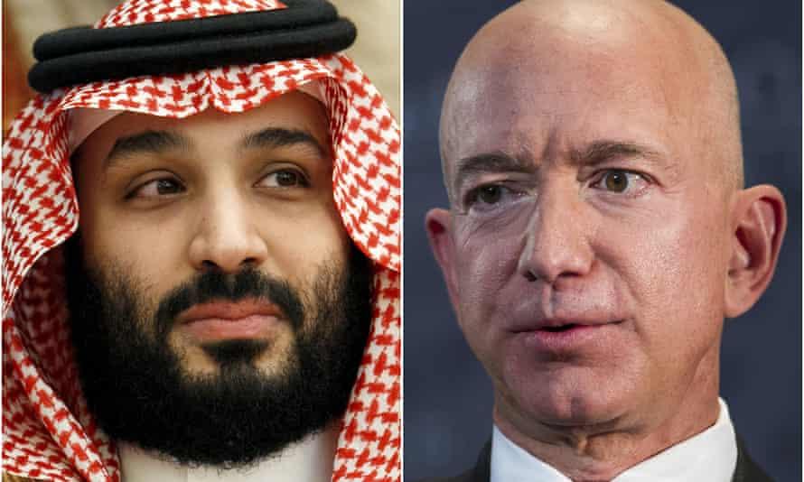 Mohammed bin Salman and Jeff Bezos