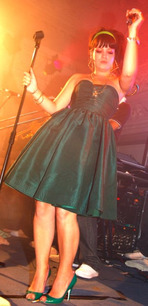 Lily Allen on stage in 2006
