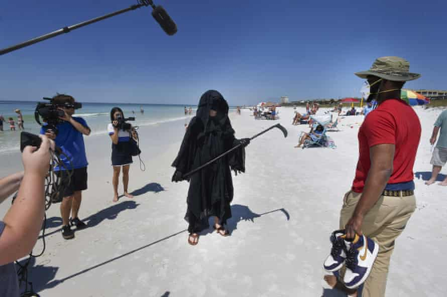"""If by dressing up as the ""Grim Reaper"" and walking our beaches I can make people think and potentially help save a life – that is the right thing to do."""