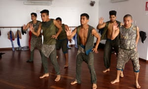 Eddy Revilla, 35, third from right, rehearsing with the D1 Dance Company.