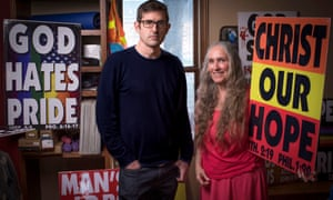 Louis Theroux with Shirley Phelps-Roper of the Westboro Baptist church