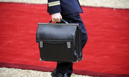 The nuclear football that contains launch codes is a symbol of the awesome dangers of American power.