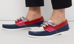 Prada boat shoes.