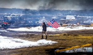 Protests at Standing Rock during the resistance to the Dakota Access pipeline.