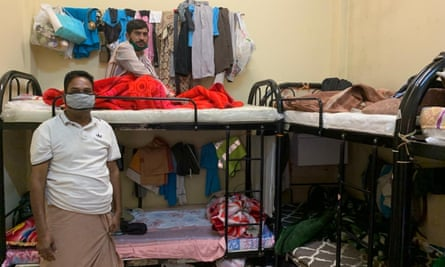 Social distancing is impossible in the cramped living quarters of Dubai's labour camps.
