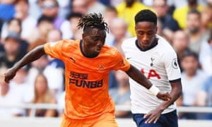 Christian Atsu gets the better of Kyle Walker-Peters.