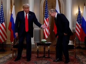 Trump welcomes Putin