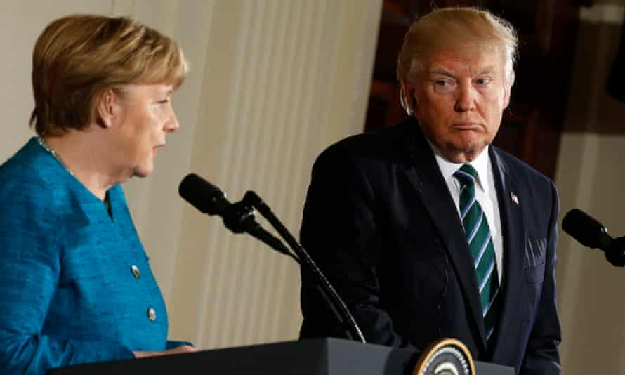 Merkel had been accompanied to Washington by German business leaders, and trade was a clear point of potential disagreement.